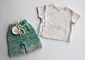 Bliss Set - shorties & wrap shirt - newborn