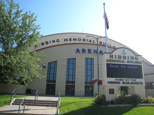 Day 7 - Virginia to Hibbing MN. The Hibbing Memorial Building, where the hometown hockey Anyone can see this photo Attribution Share Alike