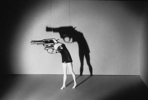 laurie simmons walking gun