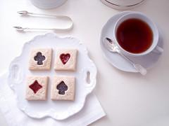 chá com a rainha de copas