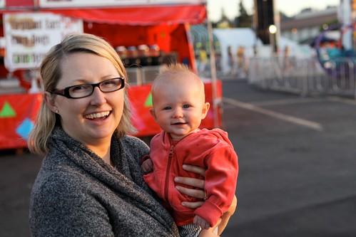 Anna's first trip to the fair
