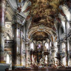 Basilika Vierzehnheiligen / Basilica of the Fourteen Holy Helpers (rawshooter72) Tags: church canon is interior ixus hdr 82 rococo basilika hdri catheral photomatix tonemapped vierzehnheiligen chdk