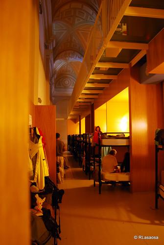 Vista del interior del Albergue de Jesús y María, Pamplona