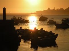Buona pesca (lumieres) Tags: tramonto barche porto controluce portogallo