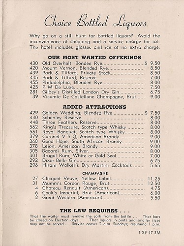 1947 Hotel New Yorker Room Service Menu (3)