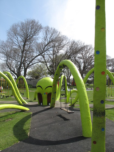 Giant spider swingset in Kowhai Park, Wanganui, NZ