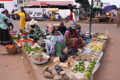 Market triangle in Tamale.