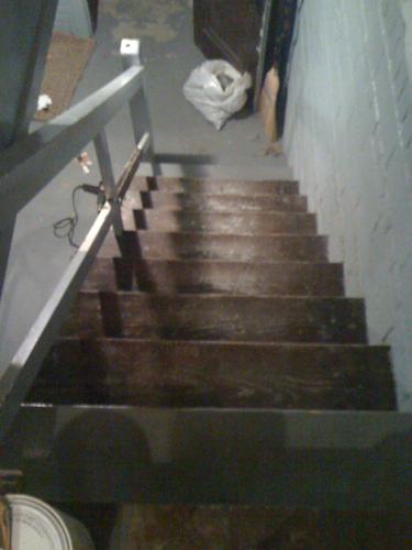 Steps- stripping in progress