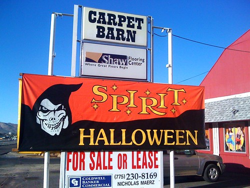 but the storefront where spirit decided to set up this year is the old carpet barn on south carsonwe stopped by yesterday here are some photos of the