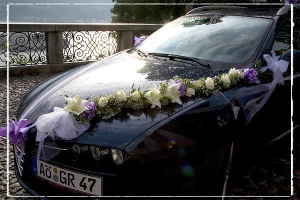 Weddinc Car Flower Arrangements