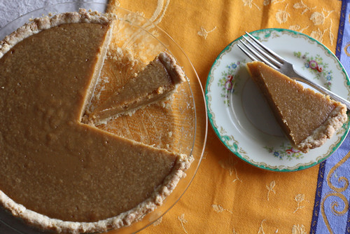 No Roll Pie Crust and a Sugar Pie
