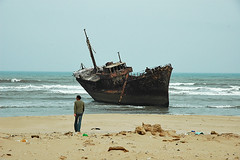 shipwreck (mpudi97) Tags: travel sea beach walking ship rusty wreck wrack antlantik westsahara mpudi97 schiffswarck