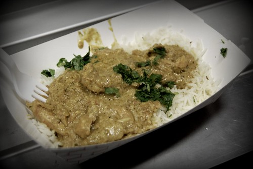 Butter Chicken Curry from the India Jones Chow Truck, Abbot Kinney - First Friday by you.