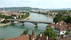 eka Rn / The River Rhine (Kaka a Ondra) Tags: water river landscape switzerland rooftops bridges basel rhine krajina eka mosty basilej vcarsko stechy rn