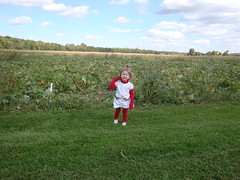 Lilliann In Front Of The Pumpkin Patch