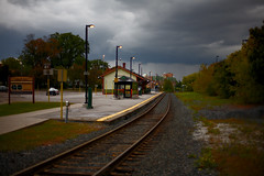 Markham Village Train Station (Peter Jung Photography) Tags: markham stormclouds trainstations canonef50mmf14usm canoneos5d markhamontario markhamvillagetrainstation