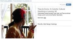 Real Weddings Feature screenshot of DIY hair fascinator, click to enlarge