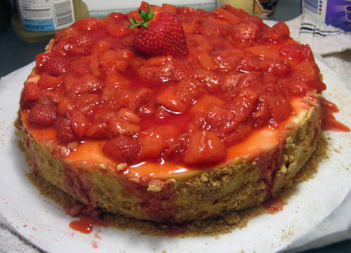 Jamie's NON VEGAN strawberry cheesecake