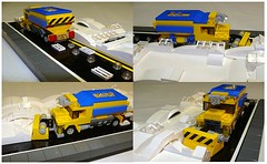 LEGO Snow Plow Road Salter Collage In Action (notenoughbricks) Tags: road city snow lego plow snowplow sander 20011 legocity brickmaster legobrickmaster20011 legosnowplow legoroadsander