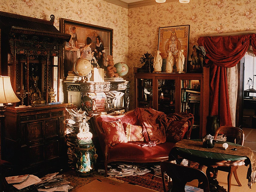 Eclectic Victorian Psychic Living Room Set Decorator Rick Romer, TV, Hawaii
