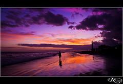 Camino del Ocaso (:: Riky ::) Tags: sky panorama beach grancanaria canon faro playa canarias colores cielo ocaso maspalomas riky alemdagqualityonlyclub rikycanon wwwrikyes