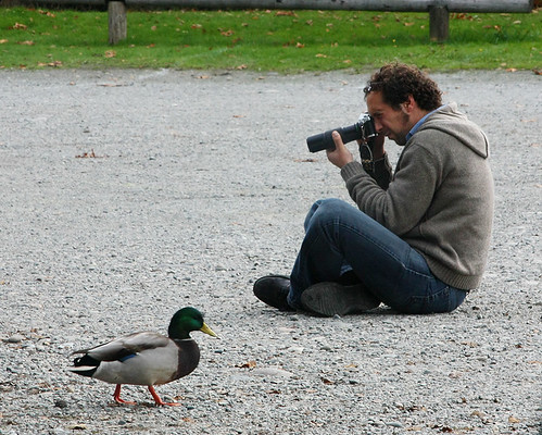 Man With Film Camera at the Reifel Bird Sanctuary BC 20Oct2009