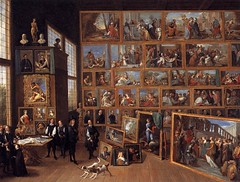 David Teniers the Younger. The Art Collection of Archduke Leopold-Wilhelm in Brussels. 1651. Oil on canvas. 127 x 162.5 cm. Petworth House, The National Trust, Sussex, UK. (Real Distan) Tags: art paintings galleries teniers