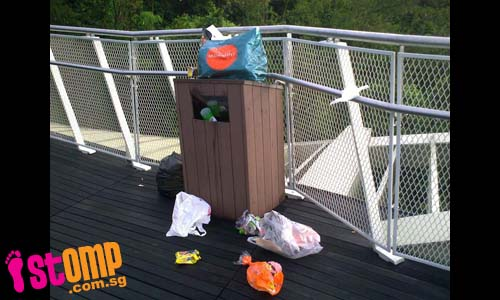 So much rubbish for these small bins at Henderson Waves