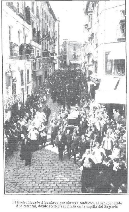 Entierro del Cardenal Reig. Foto Rodríguez para Mundo Gráfico.