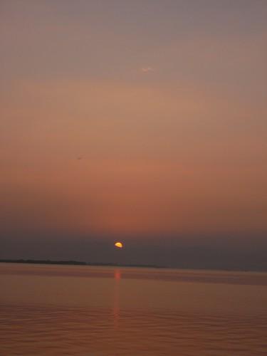 琵琶湖の夕焼け-07