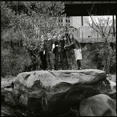 . (Ansel Olson) Tags: trees 120 6x6 mamiya tlr film water mediumformat river james virginia rocks hans katherine delta richmond trail va don wendy 3200 pipeline shrubs ilford dorinda c330 c330s mamiyasekor80mmf28