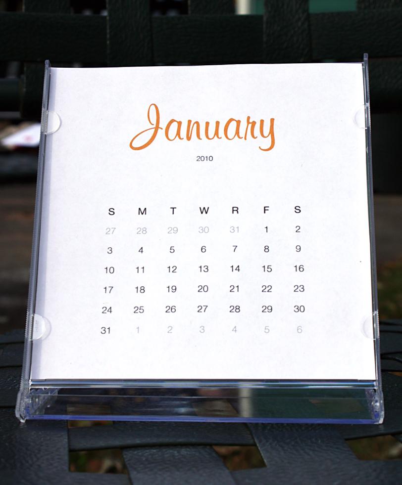 2010 Simple Calendar