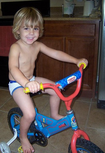 Zach on bike