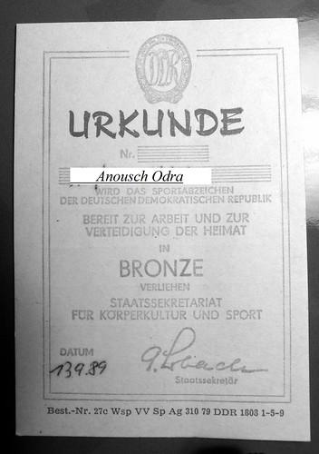 Urkunde 1989