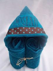 Dark Teal Josiah Hooded Towel (spiritofgiving) Tags: towels custom personalized hooded