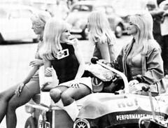 L to R,Marsha Bennett,June Cochran,Nikki Phillips,Linda Vaughn (torinodave72) Tags: girl june golden nikki phillips f1 linda nascar firebird marsha miss vaughn pure bennett cochran shifter hurst nhra usac ahra