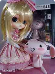 My crazy rabbit arrived: Revoltech Jun! ^___^ (Au Aizawa) Tags: pink outfit dal lolita jun sweety maretti dokodemoissyo angelicpretty frara revoltech furara