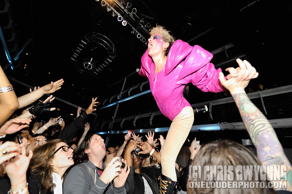 Peaches performs at Terminal 5, NYC. November 14, 2009. (photo by Chris Owyoung)
