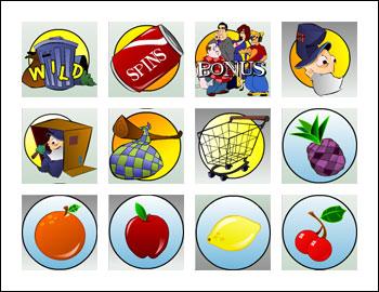 free Hobo's Hoard slot game symbols