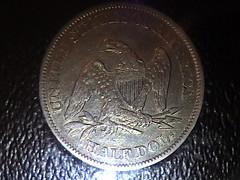 1861 ICG EF45 Seated Liberty Half Rev (SouthernLiberty) Tags: silver coins numismatics halfdollars