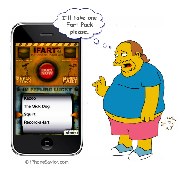 iFart Mobile iPhone App Adds Epic Fart Store