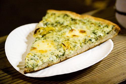 spinach and artichoke slice