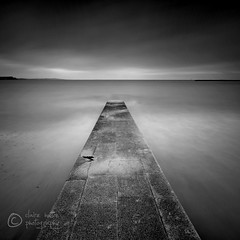 (Claire Hutton) Tags: longexposure sea blackandwhite bw seaweed beach water wall clouds contrast concrete coast jetty overcast minimal coastal ndfilter 10stop nd1000 nd110 bw110 nikond90bw