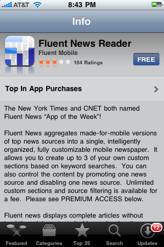 Fluent News (iPhone app)