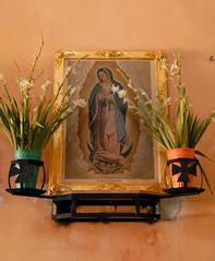 Oaxaca Guadalupe (Ilhuicamina) Tags: flores painting mexico shrine religion altar oaxaca guadalupe virgen morenita