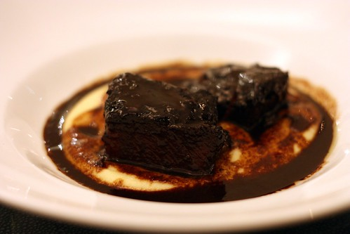 Braised Short Ribs - Yukon gold mashed potato, burgundy sauce