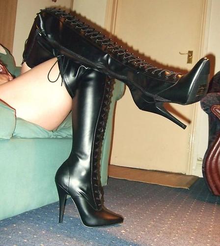 Bbw thigh high boots