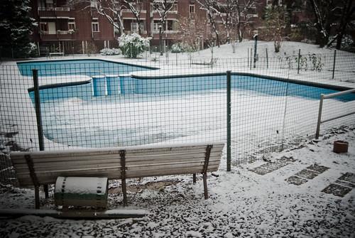 la piscina nel cortile