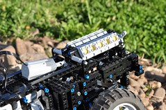 Trial Truck: DAC 16.550-12 (Sergiu94) Tags: auto road truck automobile power lego offroad 4x4 roman engine 4wd off technic dac portal functions rc trial motorized v10 axle axles 16550 offroadvehicles trialtruck sergiu94