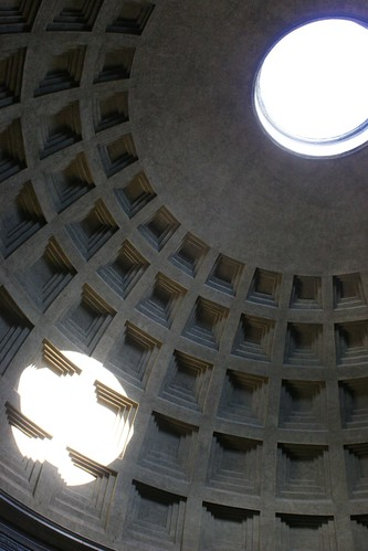 Inside dome of Pantheon, oculus